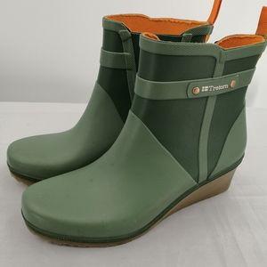 Tretorn Women's 9US Plask Rubber Wedge Rain Boot